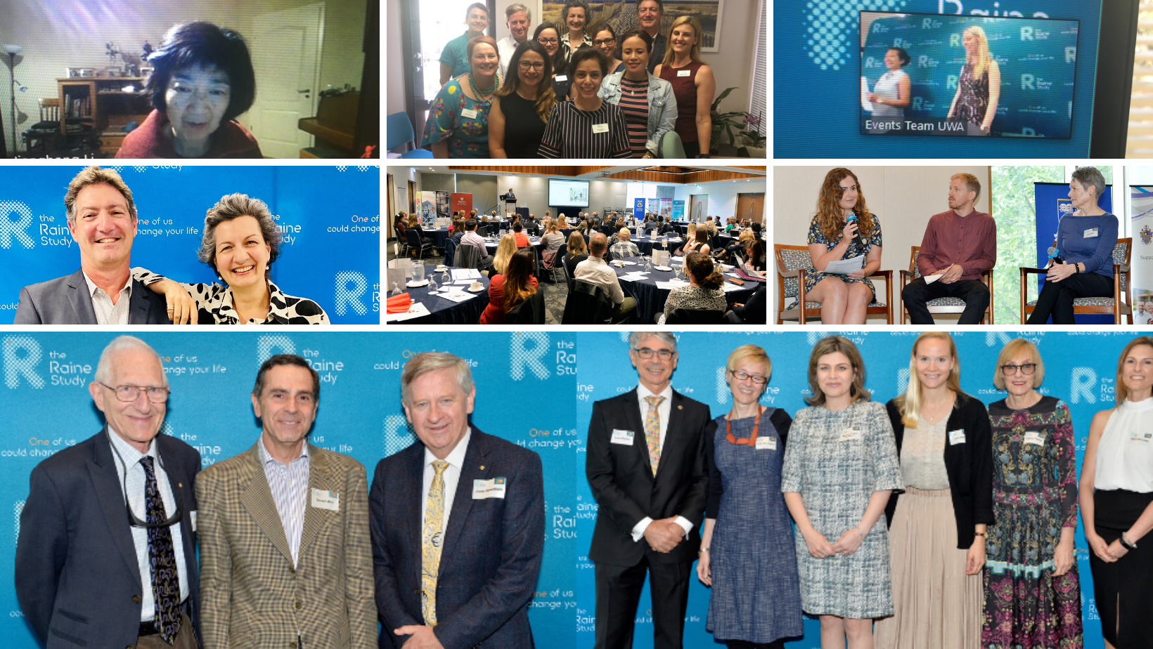 Images from the Raine Study's Annual Scientific Meeting